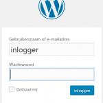 inlogscherm wordpress